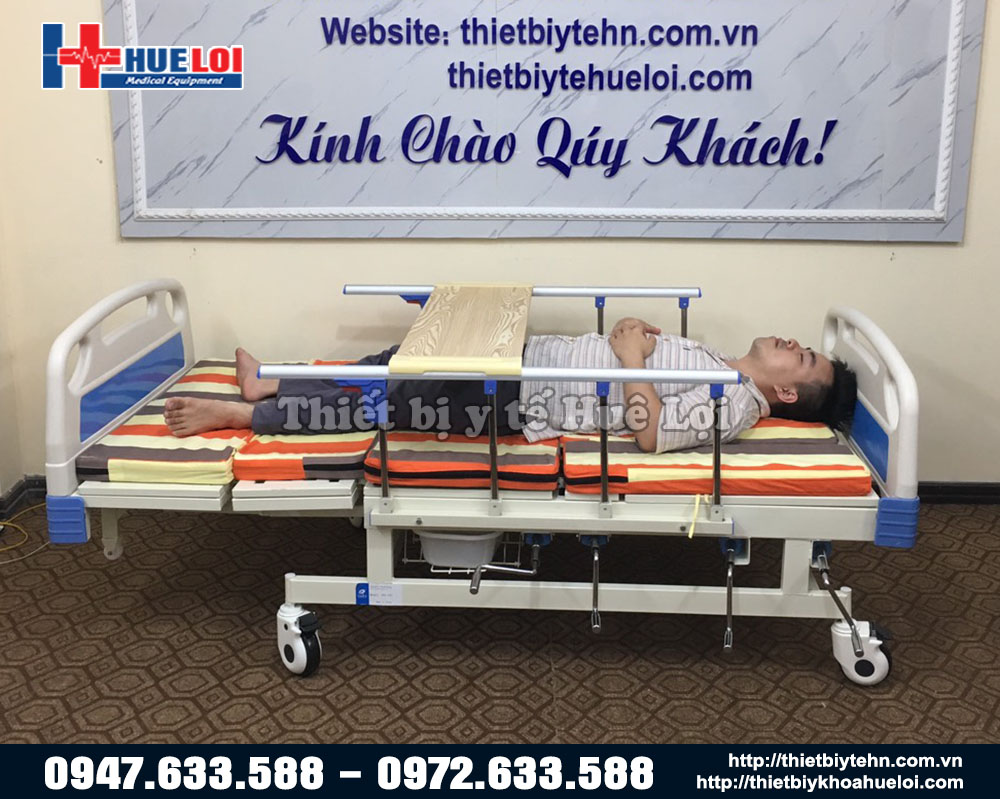 giường y tế đa năng 4 tay quay